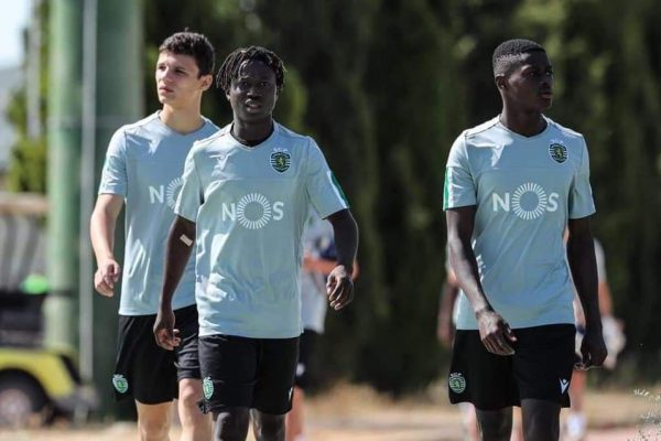 From left to right we see Eduardo Quaresma (U17), Joelson Fernandes (U16) and Nuno Mendes (U17).