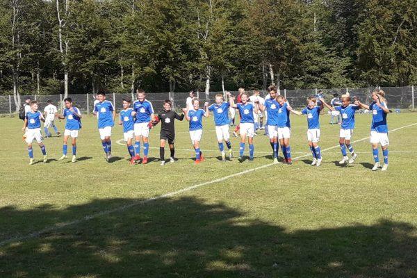 The U13 team celebrating after finishing 2nd place