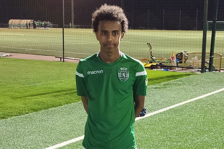 Bashir Huseen Bashiir went on a trial to Sporting last year.