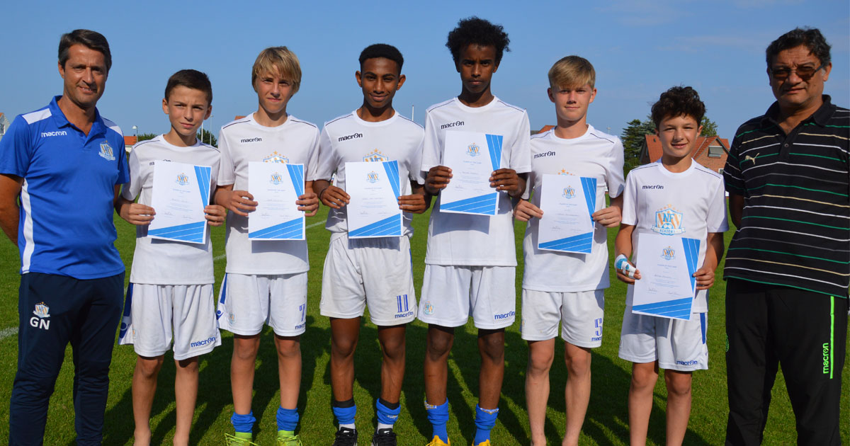 Winners of the NF Qualification Camp 2019, awarded with a training week on Sporting CP academy.