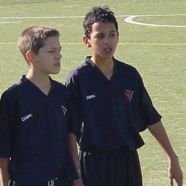 Zeca when he was 14 years old at Casa Pia AC, his club from the youth to the senior team.