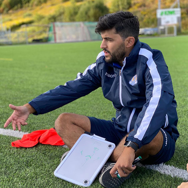 """Rodrigo Silva joined NF Academy some months ago and he is """"impressed with the way that my work is helping the players developing""""."""